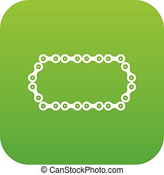 Bicycle chain icon digital green