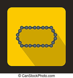 Bicycle chain icon, flat style