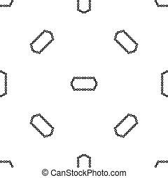 Bicycle chain pattern seamless black