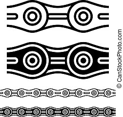 bicycle chain seamless silhouettes - illustration for the web