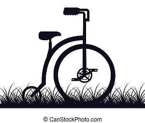 bicycle classic transport on the grass