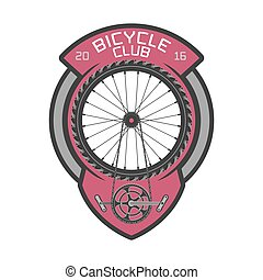 Bicycle club vector template logo