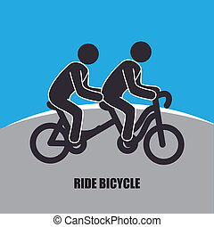 Bicycle design over blue and gray background, vector...