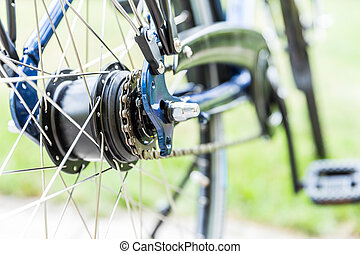 Bicycle - detail of gear and chain