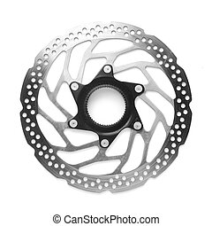 disc brake - bicycle disc brake rotor isolated on white
