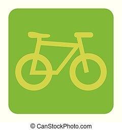 bicycle ecology vehicle label