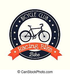 bicycle emblem club lifestyle sport