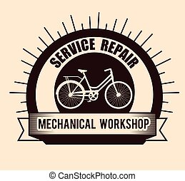 bicycle emblem mechanical repair service