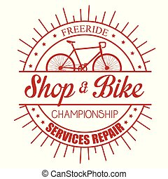 bicycle emblem shop service repair