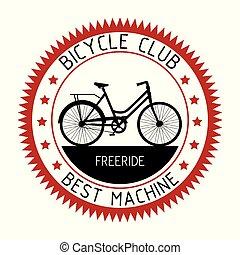 bicycle emblem sport club design