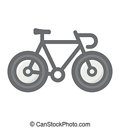 Bicycle filled outline icon, transport and vehicle, bike sign vector graphics, a colorful line pattern on a white background, eps 10.