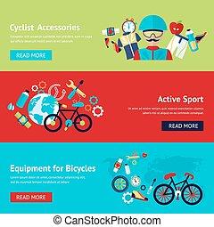 Bicycle flat banner set