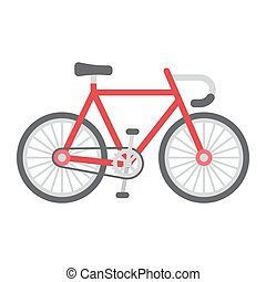 Bicycle flat icon, transport and vehicle, bike sign vector graphics, a colorful solid pattern on a white background, eps 10.