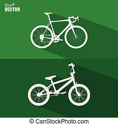 Bicycle flat icon vector.