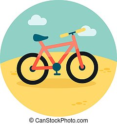 Bicycle flat icon