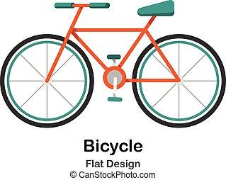 Bicycle Flat Illustration