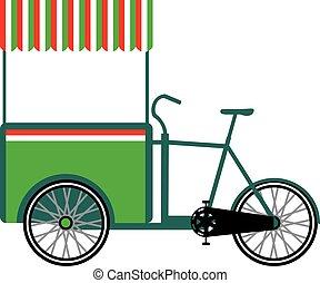 Bicycle food cart