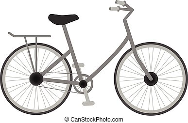 Bicycle For Kids Isolated On A White Background. Vector Illustration.