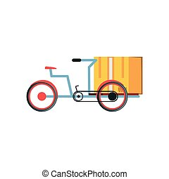 bicycle for logistic service with boxes