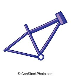 Bicycle frame icon, cartoon style