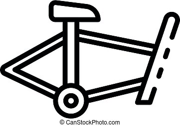 Bicycle frame icon, outline style
