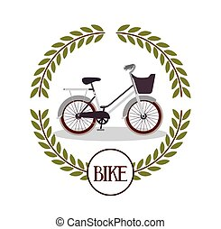 bicycle frame isolated icon design
