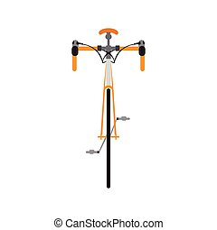 Bicycle front view - Isolated bicycle front view. Vector...
