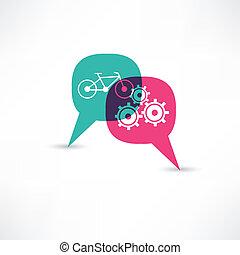 bicycle gear bubble speech
