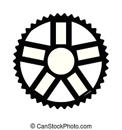 Bicycle gear icon