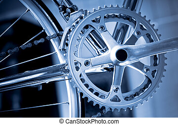 bicycle gears - chromed precision racing bike gearwheels and...