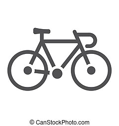 Bicycle glyph icon, transport and vehicle, bike sign vector graphics, a solid pattern on a white background, eps 10.