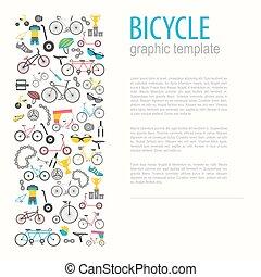 Bicycle graphic design. Bike types. Vector illustration flat design
