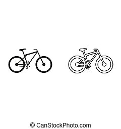 bicycle - green vector icon