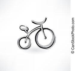 bicycle grunge icon