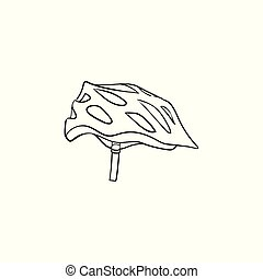 Bicycle helmet hand drawn outline doodle icon. Bicycle...