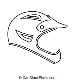 Bicycle helmet icon, outline style