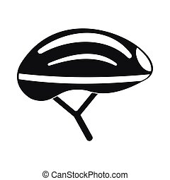 Bicycle helmet icon, simple style