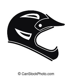 Bicycle helmet icon, simple style