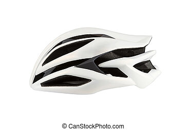 Bicycle helmet isolated on a white