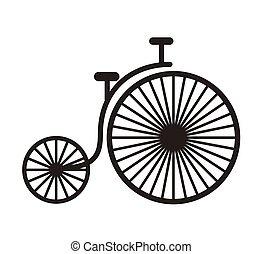 bicycle hipster style isolated icon