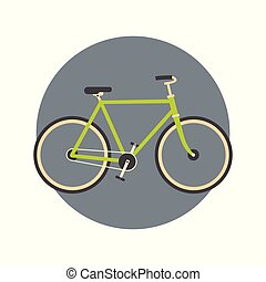 Bicycle Icon Active Tourism Travel Concept