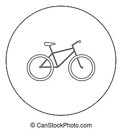 Bicycle icon black color in circle