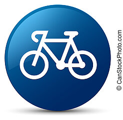 Bicycle icon blue round button