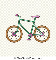 Bicycle icon, cartoon style