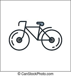 bicycle icon color illustration design