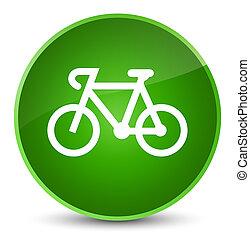 Bicycle icon elegant green round button