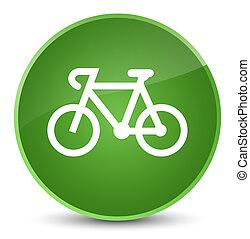 Bicycle icon elegant soft green round button