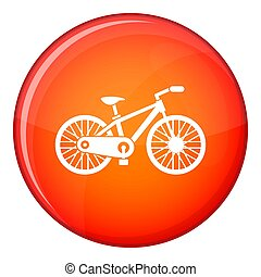 Bicycle icon, flat style