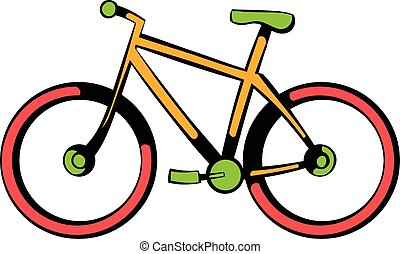 Bicycle icon, icon cartoon