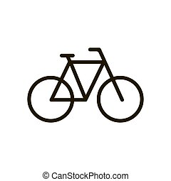 Bicycle icon in trendy flat style isolated. Illustration eps 10.